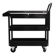Excel 36.8'' Metal Tool Cart; Black