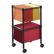 Safco Products 27.5'' Two-Tier Compact Mobile Wire File Cart