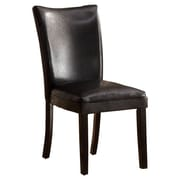 Hokku Designs Lax Contemporary Side Chair (Set of 2); Black