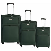 McBrine Luggage 3 Piece Spinner Luggage Set III; Green