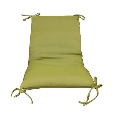 Fiberbuilt Outdoor Lounge Chair Cushion (Set of 2); Green