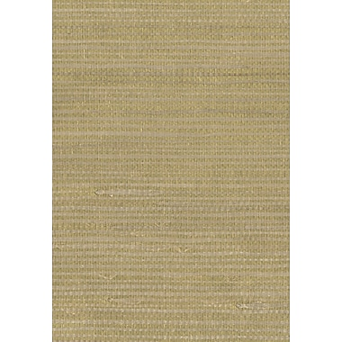 Inspired By Color™ Grasscloth Sisal Twil Wallpaper, Gold With Soft Blue