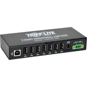 Tripp Lite® 7-Port Industrial Hi-Speed USB 2.0 Hub With 15 kV ESD Immunity (Black)
