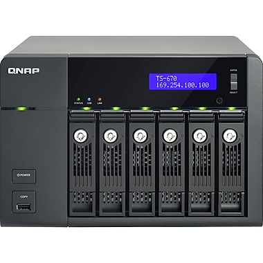 Qnap® Turbo NAS 6-Bay High-Performance Tower NAS Server For SMB