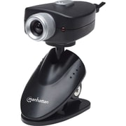 Manhattan® 5 MP Webcam With Adjustable Clip Base, Black