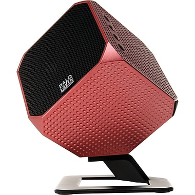 Palo Alto Cubik HD 24 Bit Speaker System For Smartphones/Tablet, Red