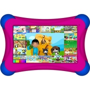 Visual Land® Prestige Pro FamTab 7 8GB Android 4.2 Tablet With Safety Bumper, Magenta