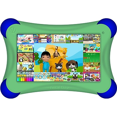 Visual Land® Prestige Pro FamTab 7in. 8GB Android 4.2 Tablet With Safety Bumper, Green