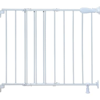 Summer Infant® Slide & Lock Top Of Stairs Metal Safety Gate, White
