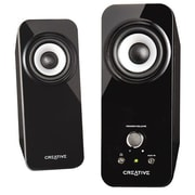 Creative® 51MF1625AA001 Inspire T12 18 W RMS 2.0 Speaker System, Black