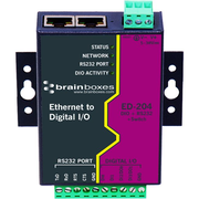 Brainboxes ED-204 Ethernet to Digital IO/RS232/Switch Device Server