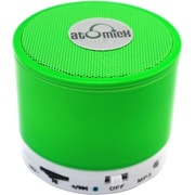 AtomicX SP-S10NG Portable Bluetooth Speaker, Neon Green
