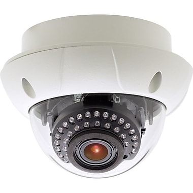 KT&C KPC-VNE101NUV18 750TVL 3-Axis Dual Voltage Outdoor Color Dome Surveillance Camera, White