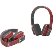 iDeaUSA™ AtomicX HP001 Bluetooth Headphone With Microphone, Red