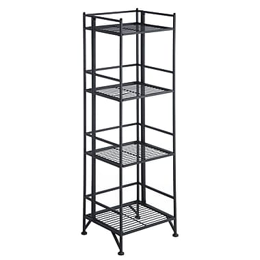 Convenience Concepts X-Tra Storage 4-Tier Folding Metal Shelf
