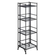 Convenience Concepts X-Tra Storage 4-Tier Folding Metal Shelf