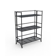 Convenience Concepts X-Tra Storage 3-Tier Wide Folding Metal Shelf
