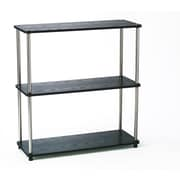 "Convenience Concepts 3-Shelf 33.63"" Wood and Stainless Steel Book Shelf"