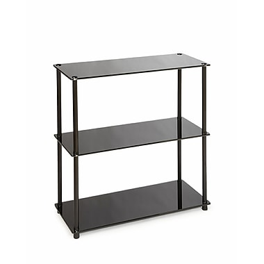 Convenience Concepts Midnight 26.5in. Stainless Steel Bookcase