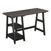 Convenience Concepts Designs2Go Trestle Writing Desk, Espresso (090107ES)