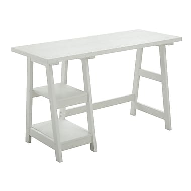Convenience Concepts Designs2Go Trestle Writing Desk, White (090107W)