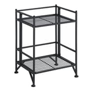 Convenience Concepts X-Tra Storage 2-Tier Folding Metal Shelf