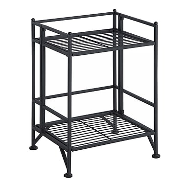 Convenience Concepts X-Tra Storage 2-Tier Folding Shelf, Metal