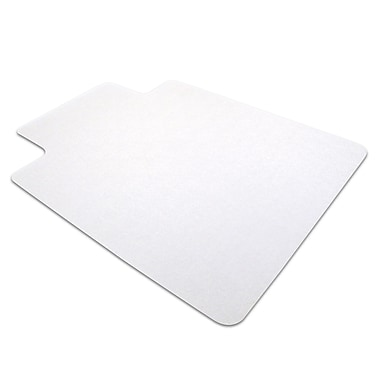 Floortex® Computex® Anti-Static Advantagemat PVC Rectangular Lipped Chairmat, 45in. x 53in., Clear