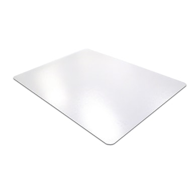 Floortex® Ecotex® Enhanced Polymer Rectangular Chairmat, 30in. x 48in., Clear