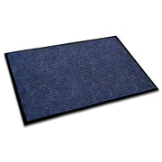 "FloorTex Ecotex Polypropylene Rib Entrance Mat 48"" x 36"", Blue"