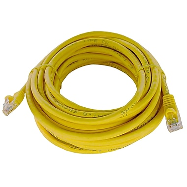 Shaxon UL724M825YL-7FB 25' CAT-6 Patch Cord, Yellow
