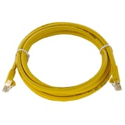 Shaxon 7' Molded Category 6 RJ45/RJ45 Patch Cord, Yellow