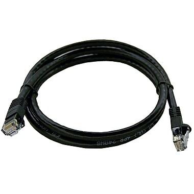 Shaxon UL724M803BK-1FB 3' CAT-6 Patch Cord, Black