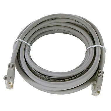 Shaxon UL724M814GY-3FB 14' CAT-6 Patch Cord, Gray
