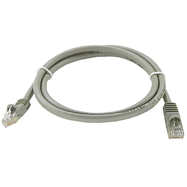 Shaxon UL724M803GY-3FB 3' CAT-6 Patch Cord, Gray