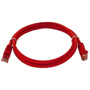 Shaxon 3' Molded Category 6 RJ45/RJ45 Patch Cord, Red