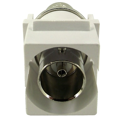 Shaxon Female to Female BNC Keystone Feed Through Coupler, White