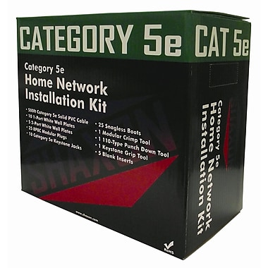 Shaxon Home Networking Kit With 500' Category 5E Cable