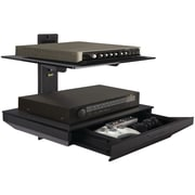 Atlantic® 38435891 Two Tier AV Component Shelf With Drawer, Black