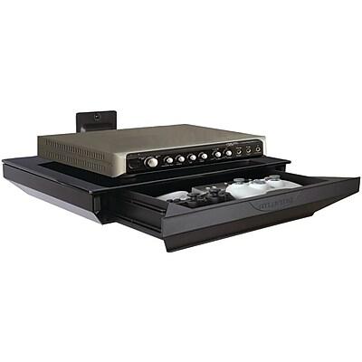 Atlantic 38435892 One Tier AV Component Shelf With Drawer, Black