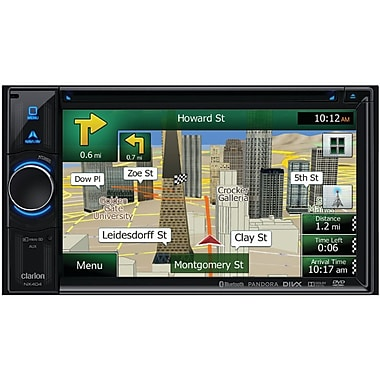 Clarion® NX404 6.2in. Dual DIN DVD Multimedia Station With Built-in Navigation