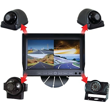 CSP C-4500 4 Camera RV System With 7in. Quad Monitor
