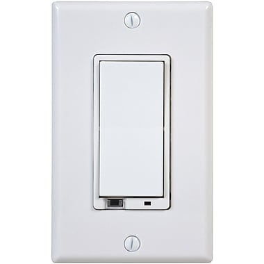 linear z wave wd1000z 1 z way wall dimmer switch white staples. Black Bedroom Furniture Sets. Home Design Ideas