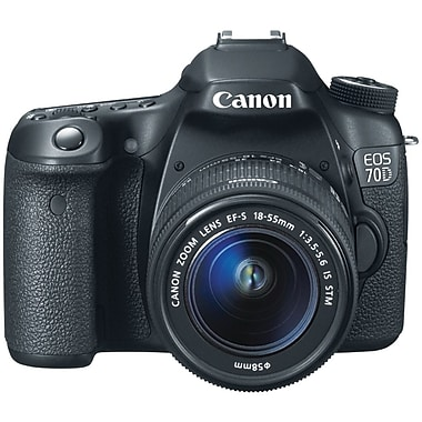Canon® EOS 70D 20.2 MP Digital SLR Camera Kit With 18 - 135 mm Lens, Black