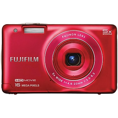 Fujifilm FinePix J Series 16 MP Digital Camera With 3in. LCD Screen, Red