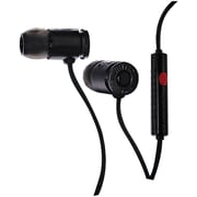 Munitio™ NINES™ Tactical 9mm Earphone With In-Line Microphone, Black