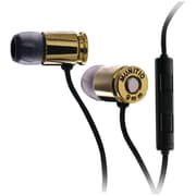 Munitio™ NINES™ Tactical 9mm Earphone With In-Line Microphone, Dark Gold