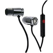 Munitio™ NINES™ Tactical 9mm Earphone With In-Line Microphone, Dark Silver