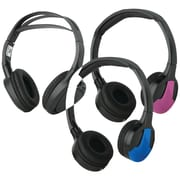 Concept CDC-IR23 Dual IR Adult/child Fit Headphone With 3 Color Covers, Black
