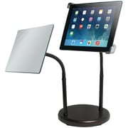 CTA® Universal Gooseneck Tabletop Stand With Mirror For iPad and Tablets